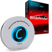 IObit Advanced SystemCare PRO Version 6 (1-Year 3-Users) FREE & BitDefender Internet Security (1-Year 3-Users)
